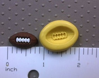 silicone mini mold FOOTBALL mold FLEXIBLE mold heat safe food safe mold for fondant cake decorations cupcake toppers polymer clay plaster