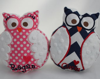 Hootie the Cutie- Plush Owl Friends-Monogrammed Pillow Toy