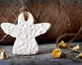 Ceramic Snowflake Angel Ornament Decoration