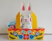 Easter, decoration, printable, paper craft, easter bunny, easter basket, easter gift card.