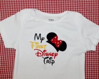 "Disney Vacation ""My First Disney Trip"" Onesie or Tshirt"