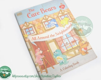 Vintage Care Bear Coloring Book All Around the Neighborhood 1980s