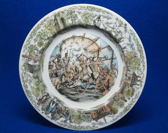 Wedgwood Plate Jamestown Pocahantas
