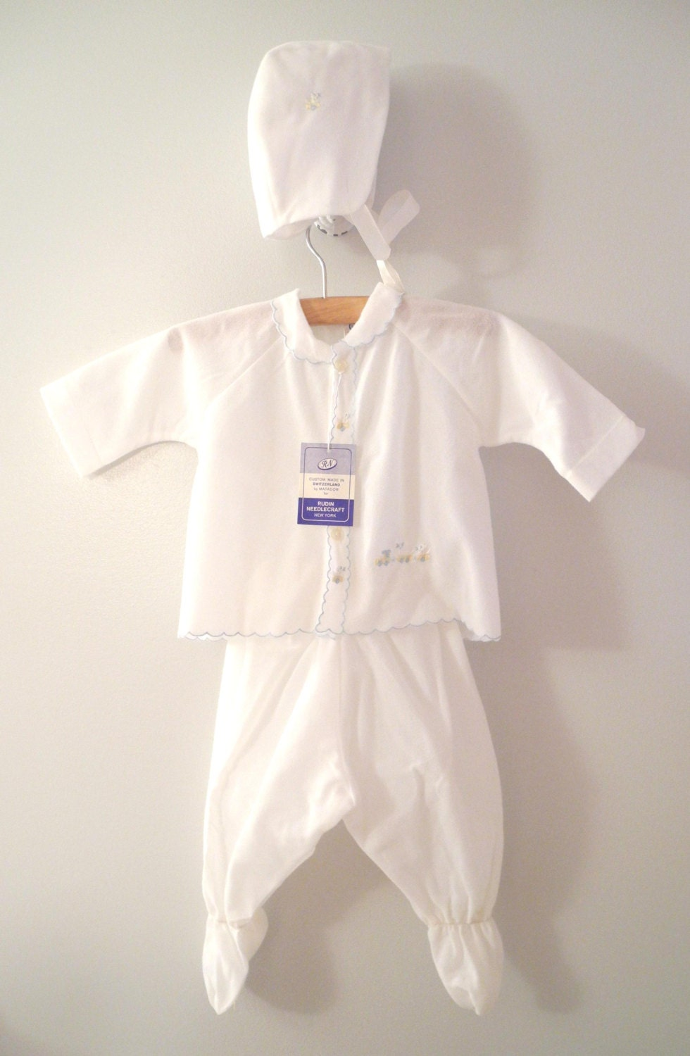 vintage baby clothes 1960 s white custom made baby by