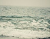 Ocean photography, water, waves, beach photograph, sea art, blue grey decor, nautical nursery, summer,seascape,beach wall art,fine art print