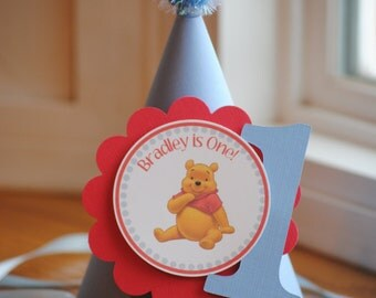 NEW - Classic Winnie the Pooh Party Hat