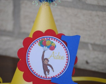 NEW - Curious George Party Hat