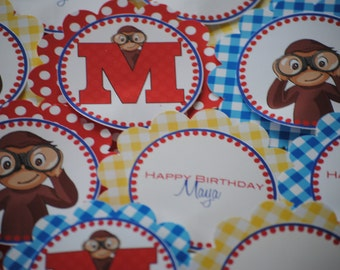 NEW - Curious George Cupcake Toppers