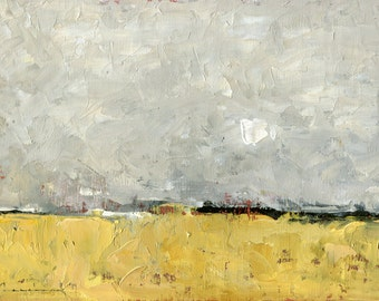 Oh, for the Prairie — Original Oil Painting Landscape Painting by John W. Shanabrook, 5 x 7