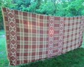Camp Blanket Beacon Early Mid Century Double Length Earth Colors Rustic Bedding Find