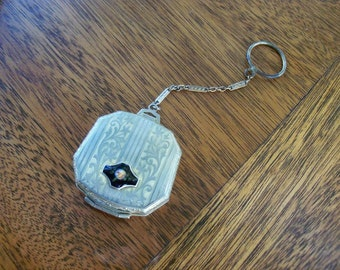 Antique Compact On A Fob Must See Ladies Accessory