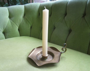 Boho Brass Candlestick Holder