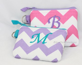 Personalized coin purse, small gadget bag, zipper pouch