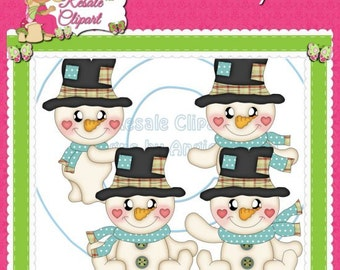 LiL Frosty Christmas 1 Clipart (Digital Download)