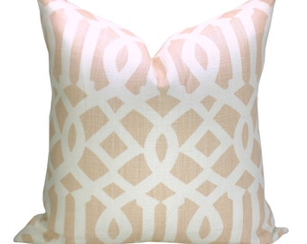 Imperial Trellis pillow cover in Blush