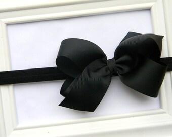 Black Bow Headband - Black Boutique Bow Headband