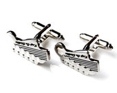 Guitar Cufflinks - Groomsmen Gift - Men's Jewelry - Gift Box Included