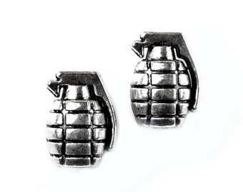 Grenades Cufflinks - Gifts for Men - Anniversary Gift - Handmade - Gift Box Included
