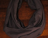 Perfect Light Weight Infinity Scarves, Brown, Jersey Knit, Adult, Teen Scarf, Great Gift, Dressy, Casual Accessory