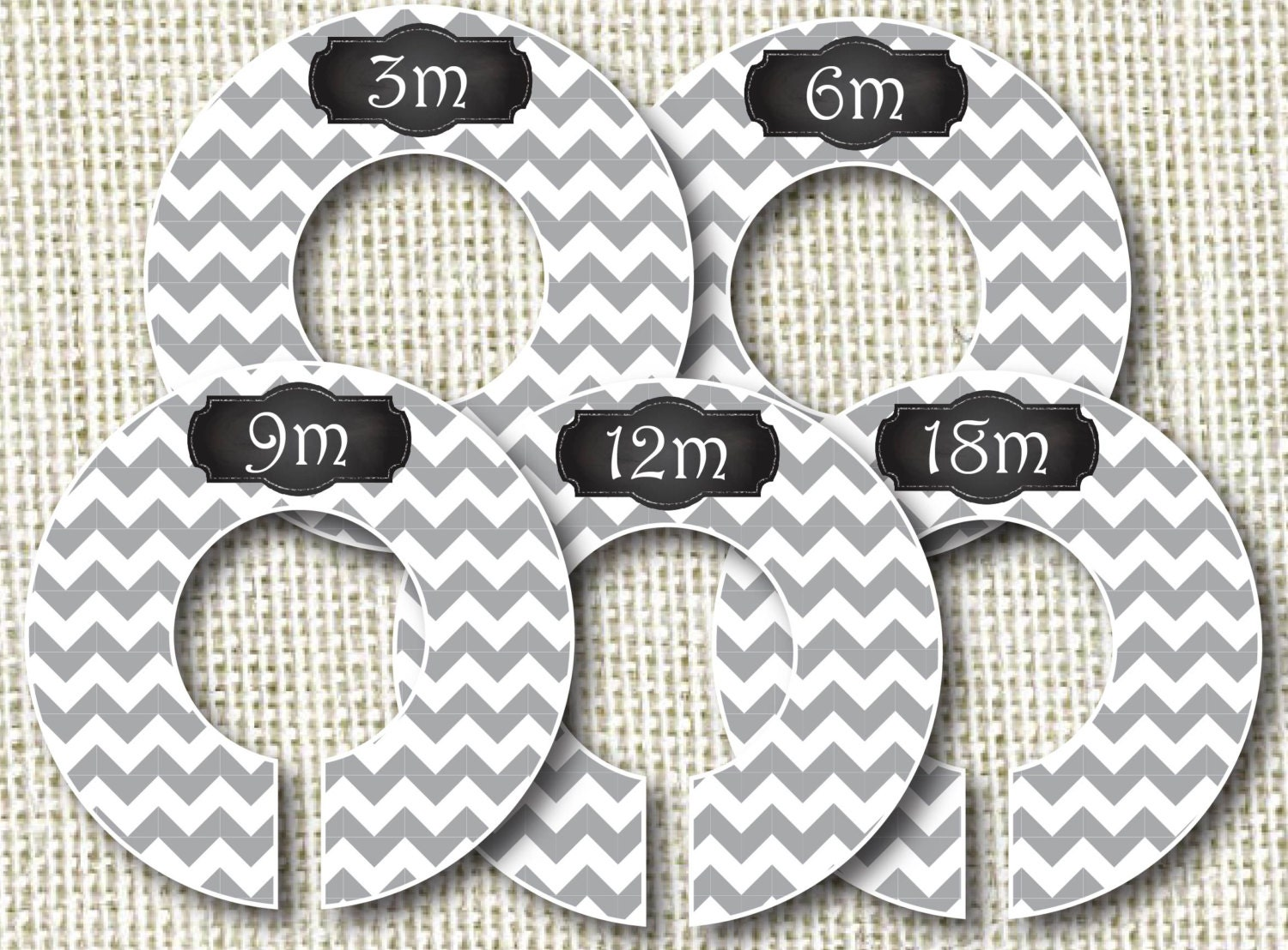 Baby Closet Dividers Clothes Organizers Gray