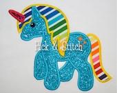 Unicorn Pony Applique Design Machine Embroidery INSTANT DOWNLOAD