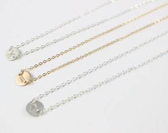 Zodiac Necklace,14k Gold Filled, Sterling Silver,Aries, Taurus, Gemini, Cancer, Leo, Virgo, Libra, Scorpio, Sagittarius, Capricorn, Aquarius