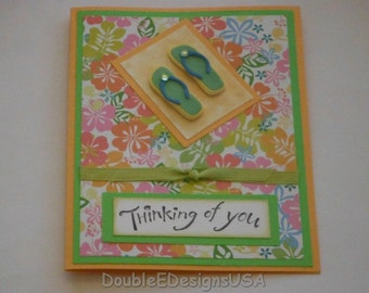 Thinking of You Flip Flop Card