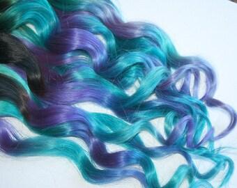 Clip In Hair Extensions, Purple, Teal, Hair Weave, Wide Tracks, Ombre Hair Extensions, Pink Hair, Mint Hair, Rainbow Hair, Festival Hair