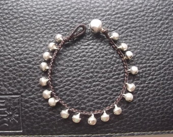Jingle bells little lovely  bracelet silver plate Thailand handmade jewelry on summer gift new collection by Nannapatt