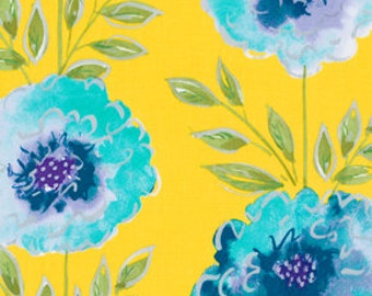 25138 - Dena Designs The Painted Garden Collection - Rose in yellow  - PWDF137 - 1 yard