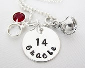 Softball Necklace - Baseball Necklace - Softball Mom - Baseball Mom - Coach - Personalized - STERLING SILVER - Patricia Ann Jewelry