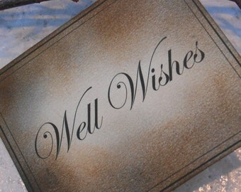 Wishes Sign / Well Wishes Sign / Signage / Wedding Wishes Sign / Diy Wedding / Distressed Wishes Sign / Vintage Wedding
