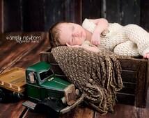 Crochet NEWBORN Overalls Photography Prop, pants, shorties, long alls