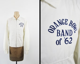 Vintage 60s Orange Bowl Jacket Marching Band Ben Davis High School 1962 - Medium