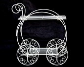Vintage Wire Metal Iron Flower Planter Cart Indoor Outdoor Heart Wedding