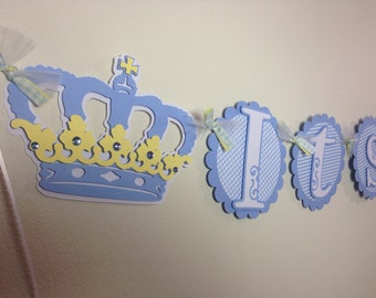 Baby Shower Banner Its a Boy Banner Prince Banner Little Prince