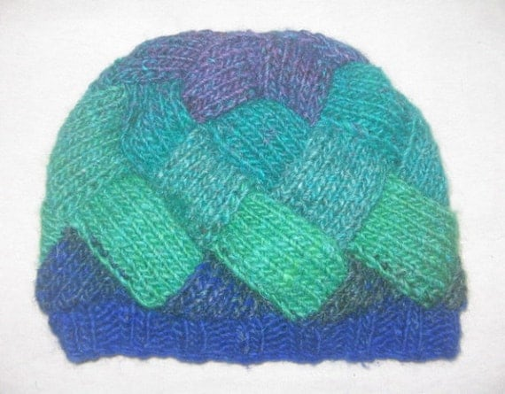 Knitting Pattern Entrelac Hat : Entrelac Hat KNITTING PATTERN downloadable file by RianAnderson