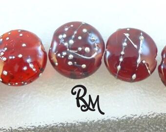 Lampwork Bead Set - 'Red'
