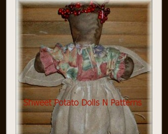 Stump Doll Angel ePattern Primitive Instant Download Digital