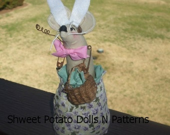 Primitive Easter Mouse Bunny ArtDoll