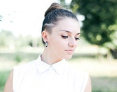 Rectangular stud earrings, long post earrings, geometric jewellry