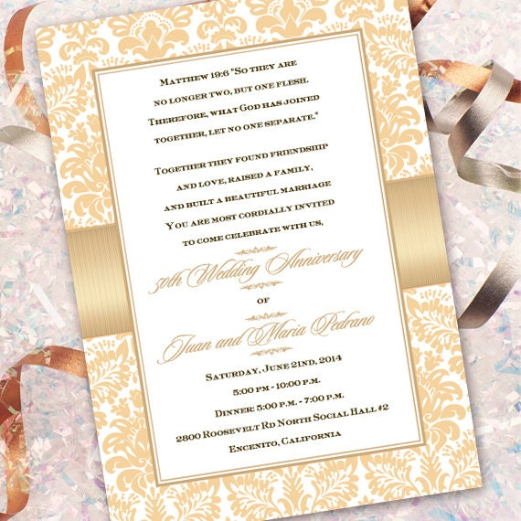 wedding invitations, champagne wedding invitations, golden anniversary party invitations, bridal shower invitations, IN323
