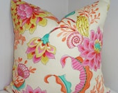 Divers Paradise Pink Blue Orange Shell Pillow Cover Decorative Pillow Nautical Beach Throw Pillow 18x18