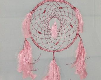 """9"""" Floral antique pink romantic dreamcatcher"""