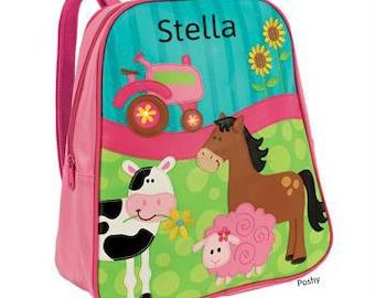Personalized Backpack Stephen Joseph GoGo Bag Farm Girl