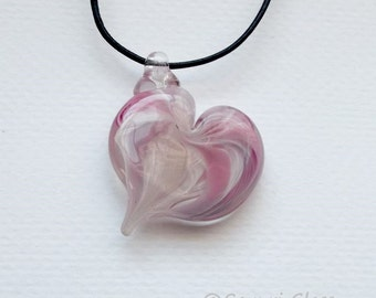 Glass Heart  Pendant 5 :DISASTER RELIEF