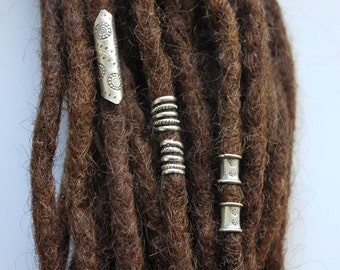 5 Sterling Silver Dreadlock cuffs - dreadlock accessories - Dread bead - Dreadlock Jewelry - locs - beautiful dread bead - boho - rasta