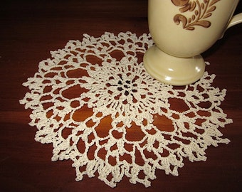 Vintage Chic Handmade Crocheted Cloth Doilies
