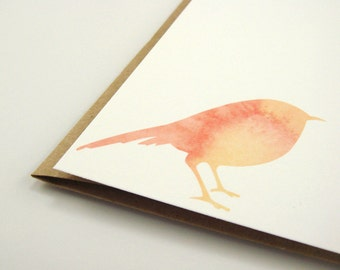 Bird Notecards, Bird Stationery, Notecards,  Note Cards, Stationary, Watercolor Stationery, Bird Paper Goods, Pink, Yellow, Girly Notecards