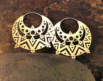 Gypsy (Large) Brass Earrings